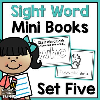 Sight Word Mini Books - Set 5