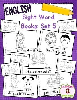 Sight Word Mini Books: Set 5 (English)