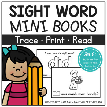 Sight Word Mini Books - Set 6