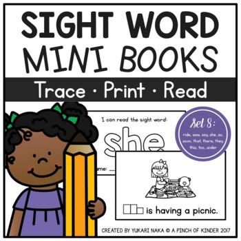Sight Word Mini Books - Set 8