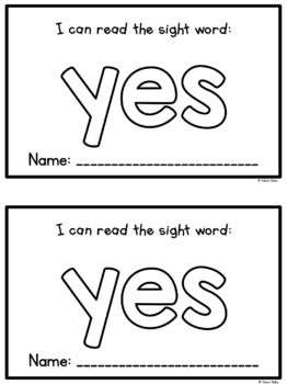 Sight Word Mini Books - Set 9