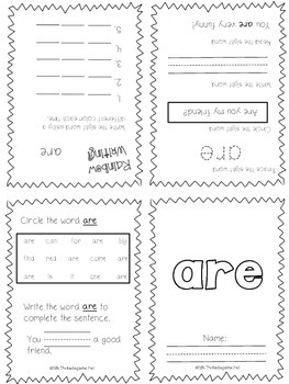 Sight Word Mini-Books: The Fry First Hundred