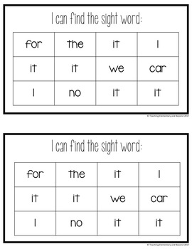 Sight Word Mini Books for Pre-primer and Primer Sight Words Set 3
