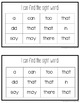 Sight Word Mini Books for Pre-primer and Primer Sight Words Set 7