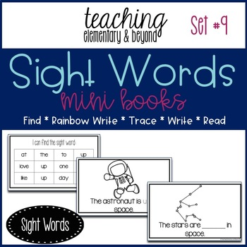Sight Word Mini Books for Pre-primer and Primer Sight Words Set 9