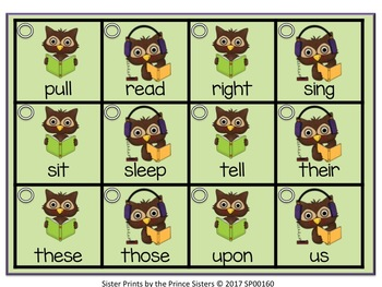 Sight Word Mini-Flash Cards