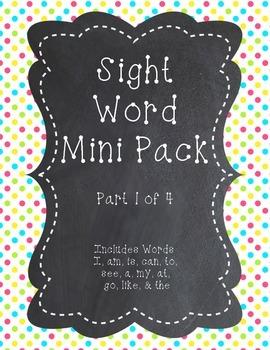 Sight Word Mini Pack