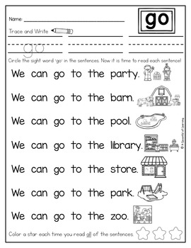 Sight Word Readers and Intervention Activities