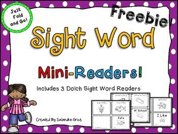 Sight Word Mini-Readers Freebie!