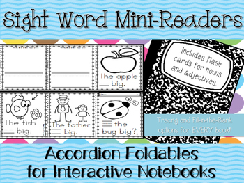 Sight Word Mini-Readers for Fluency