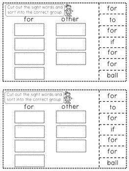 Sight Word Mini Work Books Set 2