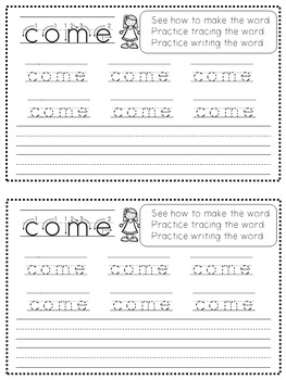 Sight Word Mini Work Books Set 3