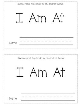 Sight Word Mini-book-  I Am At