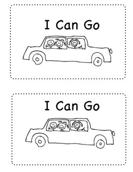 Sight Word Mini-book-  I Can Go