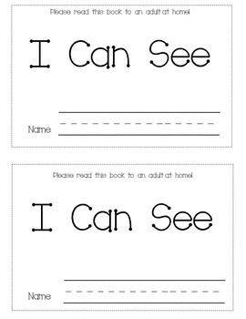 Sight Word Mini-book- I Can See