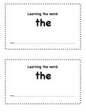 Sight Word Mini-book-  The