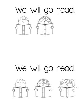Sight Word Mini-book- We Will Go