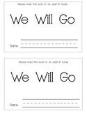 Sight Word Mini-book- We Will Go