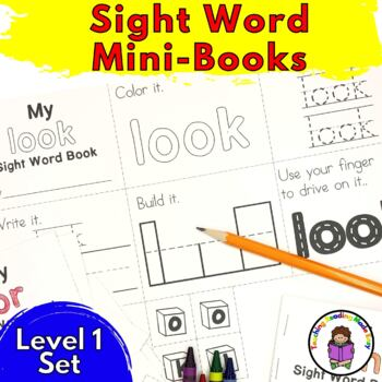 Sight Word Minibook -Dolch Level 1 Set