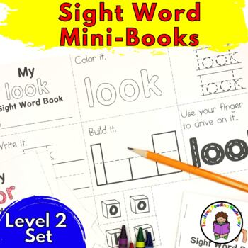 Sight Word Minibook -Dolch Level 2 Set