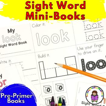 Sight Word Minibook -Dolch Pre-Primer Set