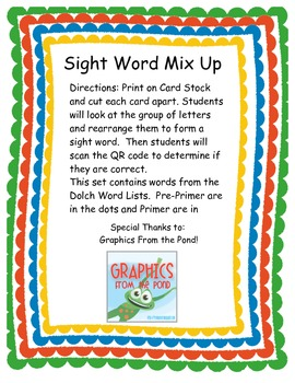 Sight Word Mix Up