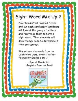 Sight Word Mix Up 2