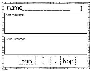 Sight Word Mixed Up Sentences {20 words}