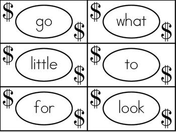 Sight Word Money