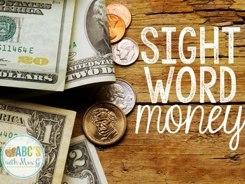Sight Word Money {Pre-Primer}