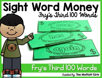 Sight Word Money: Fry's Third 100 Words