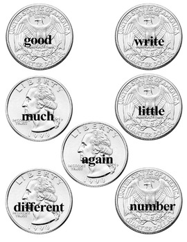 Sight Word Money Game/Flashcards