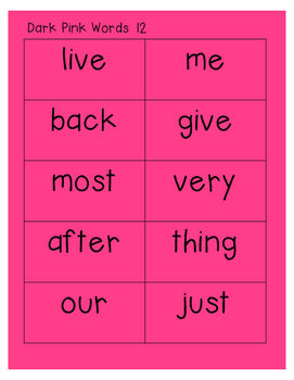 "Sight Word ""Monkey Words""  List #2  Words 101 -200"