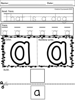 Sight Word Morning Work Pre-Primer Set 1