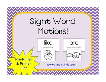 Sight Word Motions