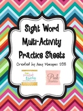 Sight Word Practice - Rainbow Write, Trace, Find and Circle, and more!