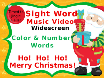 Sight Word Music Video, Color & Number Words, Christmas