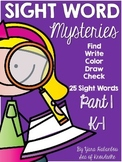 Sight Word Mysteries {Part 1}