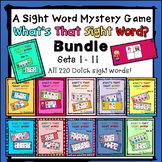 Sight Word Mystery  Bundle - What's That Sight Word?