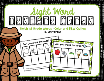 Sight Word Mystery Cards • 1st Grade
