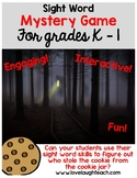 Sight Word Mystery Game for Problems Solving and Critical Thinking