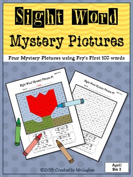 Sight Word Mystery Pictures - April Set 2