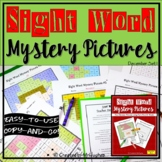 Sight Word Mystery Pictures | Winter | Christmas Mystery Pictures | December