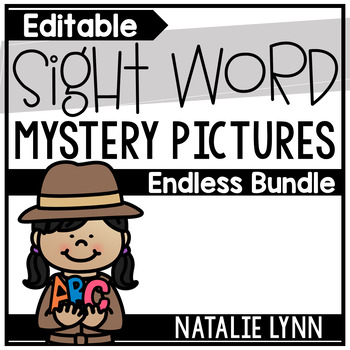 Sight Word Mystery Pictures Endless Bundle