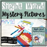 Sight Word Mystery Pictures - January Set 1