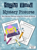 Sight Word Mystery Pictures - January Set 2