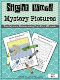 Sight Word Mystery Pictures - June Set 1