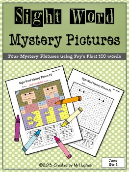 Sight Word Mystery Pictures - June Set 2