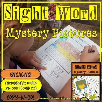 Sight Word Mystery Pictures - November Set 1