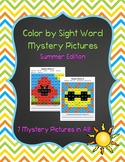 Sight Word Mystery Pictures: Summer Edition